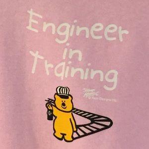 """PINK TODDLER HOODIE """"ENGINEER IN TRAINING"""", NWT"""